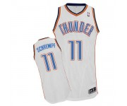 NBA Detlef Schrempf Authentic Men's White Jersey - Adidas Oklahoma City Thunder &11 Home