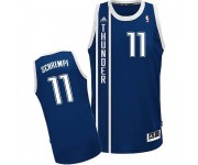 NBA Detlef Schrempf Swingman Men's Navy Blue Jersey - Adidas Oklahoma City Thunder &11 Alternate