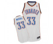 NBA Mitch McGary Authentic Men's White Jersey - Adidas Oklahoma City Thunder &33 Home