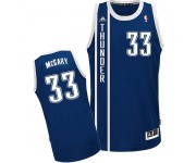 NBA Mitch McGary Swingman Men's Navy Blue Jersey - Adidas Oklahoma City Thunder &33 Alternate