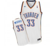 NBA Mitch McGary Swingman Men's White Jersey - Adidas Oklahoma City Thunder &33 Home