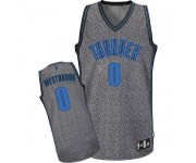 NBA Russell Westbrook Authentic Men's Grey Jersey - Adidas Oklahoma City Thunder &0 Static Fashion