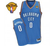 NBA Russell Westbrook Authentic Men's Royal Blue Jersey - Adidas Oklahoma City Thunder &0 Road Finals