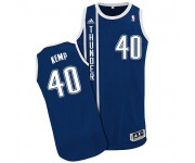 NBA Shawn Kemp Authentic Men's Navy Blue Jersey - Adidas Oklahoma City Thunder &40 Alternate