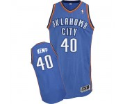 NBA Shawn Kemp Authentic Men's Royal Blue Jersey - Adidas Oklahoma City Thunder &40 Road