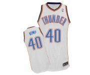 NBA Shawn Kemp Authentic Men's White Jersey - Adidas Oklahoma City Thunder &40 Home