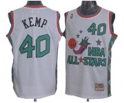 NBA Shawn Kemp Authentic Throwback Men's White Jersey - Mitchell and Ness Oklahoma City Thunder &40 1996 All Star