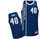 NBA Shawn Kemp Swingman Men's Navy Blue Jersey - Adidas Oklahoma City Thunder &40 Alternate