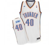 NBA Shawn Kemp Swingman Men's White Jersey - Adidas Oklahoma City Thunder &40 Home