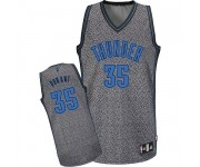 NBA Kevin Durant Authentic Men's Grey Jersey - Adidas Oklahoma City Thunder &35 Static Fashion