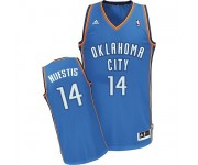NBA Josh Huestis Swingman Men's Royal Blue Jersey - Adidas Oklahoma City Thunder &14 Road