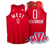 2016 Toronto Star MVP 0 maillot Russell Westbrook rouge