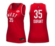 Femmes 2016 All-Star Western 35 Kevin Durant le maillot rouge