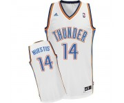NBA Josh Huestis Swingman Men's White Jersey - Adidas Oklahoma City Thunder &14 Home