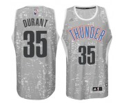 Kevin Durant 35 Swingman gris Fashion Maillot de hommes,Oklahoma City Thunder Black City Lights Swingman maillot