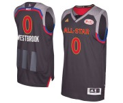 Adidas de Western Conference Russell Westbrook masculine Charcoal 2017 NBA All-Star Game Swingman maillot