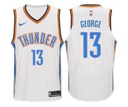 2017-18 saison Paul George Oklahoma City Thunder 13 Association maillot blanc
