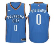 2017-18 saison Russell Westbrook Oklahoma City Thunder 0 Icône Bleu maillots