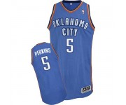 NBA Kendrick Perkins Authentic Men's Royal Blue Jersey - Adidas Oklahoma City Thunder &5 Road
