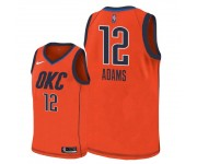 Hommes Oklahoma City Thunder ^ 12 Steven Adams Maillot Swingman Edition Gagnée - Orange