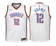 Thunder d'Oklahoma City pour les jeunes ^ 12 Steven Adams Swingman White Jersey-Association Edition