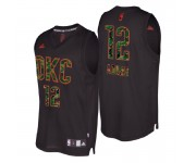 Oklahoma City Thunder ^ 12 Maillot Steven Adams Swingman Mode Noir et Camo