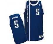 NBA Kendrick Perkins Swingman Men's Navy Blue Jersey - Adidas Oklahoma City Thunder &5 Alternate