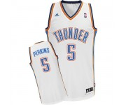 NBA Kendrick Perkins Swingman Men's White Jersey - Adidas Oklahoma City Thunder &5 Home