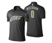 Polo Thunder Oklahoma City pour hommes ^ 0 Russell Westbrook City Edition - Gris