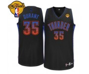 NBA Kevin Durant Authentic Men's Black Jersey - Adidas Oklahoma City Thunder &35 Fashion Finals