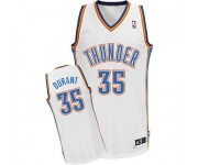 NBA Kevin Durant Authentic Men's White Jersey - Adidas Oklahoma City Thunder &35 Home